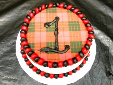 #1 with Plaid Smash Cake