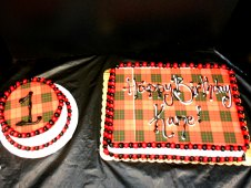 1st Birthday Plaid Smash and 1/4 Sheet