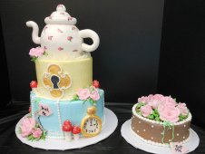 Alice in Wonderland Theme Tiered and Smash Cake