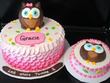 Owl with Ruffles