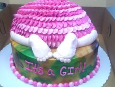 Baby Butt It's a Girl Cake