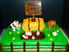 Farm Animals with Hay Bale Piped
