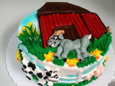 Barn with Farm Animals Piped