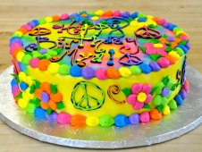 Peace Sign Theme Cake