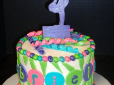 Gymnastics Theme Cake Girl Birthday