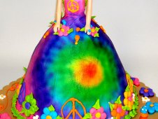Hippie Doll Birthday Cake