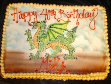 Dragon Theme Birthday Cake