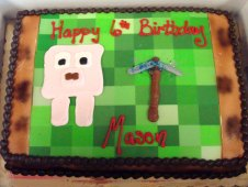 Pixel Video Game Birthday Cake