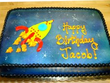 Spaceship Theme Birthday Cake
