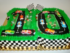 Race Car Theme Birthday Cake