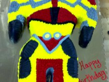 Robot Cutout Birthday Cake