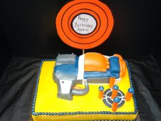 Dart Gun Shaped Birthday Cake