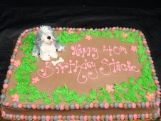 Dog Theme Birthday Cake