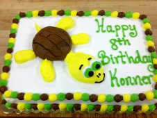 Turtle Theme Birthday Cake
