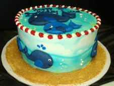 Whale Theme Birthday Cake