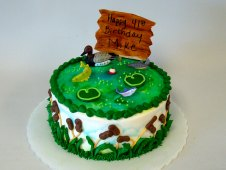 Duck Scene Birthday Cake