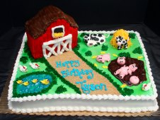 Barn Theme Birthday Cake