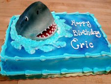Shark Theme Birthday Cake