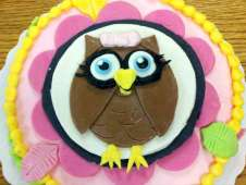 Owl Theme Birthday Cake