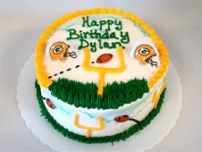 Green Bay Packers Theme Cake