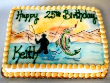 Fishing Theme Birthday Cake