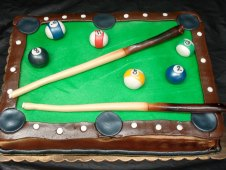 Pool Theme Birthday Cake