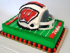 Wisconsin Football Theme Birthday Cake