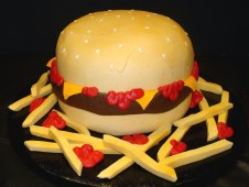 Cheeseburger Birthday Cake
