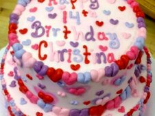 Heart Theme Birthday Cake