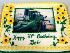 Tractor Photo Birthday Cake