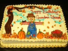 Fall Theme Birthday Cake