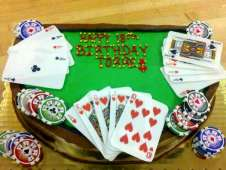 Poker Theme Birthday Cake