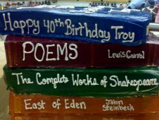 Book Theme Birthday Cake