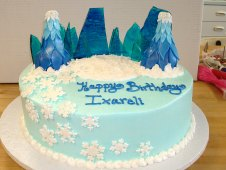 Winter Theme Birthday Cake