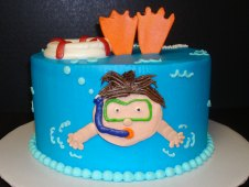 Snorkeling Theme Birthday Cake