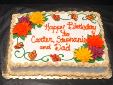 Fall Flowers Birthday Cake