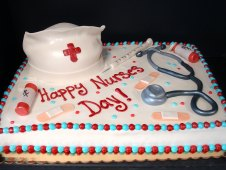 Nurse Theme Birthday Cake