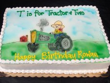 Tractor Theme Birthday Cake