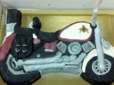 Motorcycle Cutout Birthday Cake
