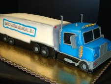 Semi Truck Birthday Cake