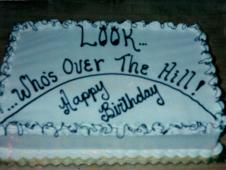 Over the Hill Birthday Cake