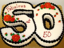50th Cutout Birthday Cake