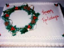 Happy Holidays Cake