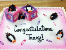 Baby Blocks with Penguins Piped