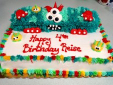 Monster Theme Cake