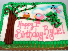 Girl Theme Birthday Cake