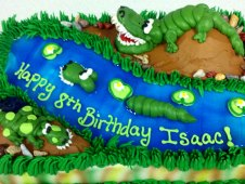 Alligator Theme Cake