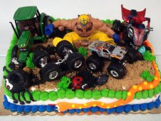 Monster Truck Theme Cake