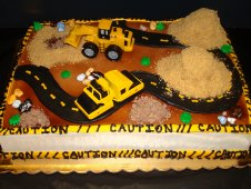 Construction Theme Cake