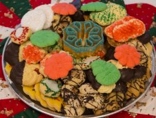 "Christmas Cookie 12"" Tray"